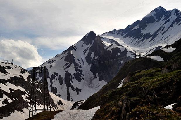 Il ghiacciaio del Siedel a inizio camp.